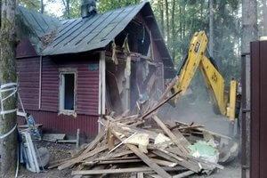 Стоимость сноса дома