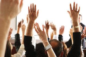 Голосование на собрании собственников дома