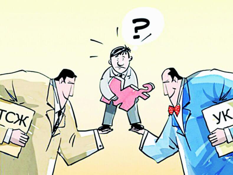 Разница между управляющей компанией и тсж
