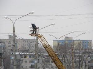 Обслуживание фонарных столбов